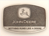 "JOHN DEERE BUCKLE - Nothing Runs like a deer  2 1/4"" x 3 1/4"""