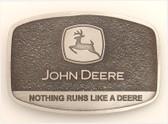 """JOHN DEERE BUCKLE - Nothing Runs like a deer  2 1/4"""" x 3 1/4"""""""