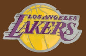 "LA Lakers NBA Buckle  3-3/4"" x 2-1/2"""