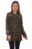 Camouflage suede and embroidered beaded jacket