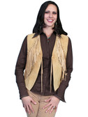 LADIES CHAMOIS BOAR SUEDE VEST 62335