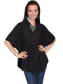 LADIES Black Poncho Style Blouse