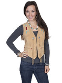 LADIES BEADED SUEDE VEST 62318