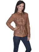 LADIES CONGNAC SOFT LAMB JACKET 62381
