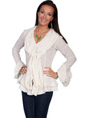 LADIES  Peruvian Cotton Natural Blouse