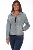 Leather denim jean jacket