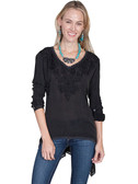 LADIES Black Embroidered Shirt