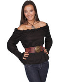 Ladies Ruffle Pull Over shirts