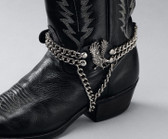 Leather Boot Chains - Eagle on Side