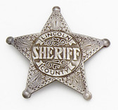 LINCOLN COUNTY SHERIFF BADGE BILLY THE KID