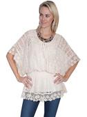 Natural Crochet Top Ladies Shirt