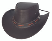Maitland leather cowboy hat by Bullhide® Hats.  Black.  Available in sizes S, M, L, XL