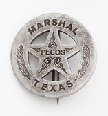 Marshal Pecos Texas Badge