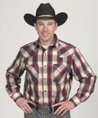 Men's Western Shirt - Red Plaid