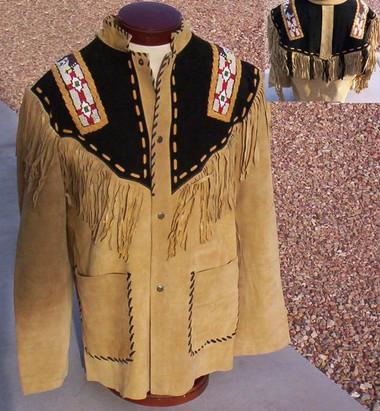 Native Dancer Suede Prayer Shirt/Jacket