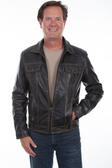 Black Vintage Men Leather jacket