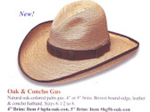 NEW 2009 OAK AND CONCHO Cowboy Hat Cowboy Hat