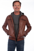Cognac Soft lamb leather jacket