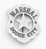 OLD WESTERN DODGE CITY MARSHALL BADGE