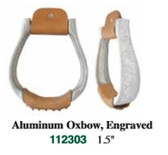 1 Pair Stirrups Aluminum Oxbox 1.5  Inch