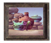 PimaIndian Pots on Canvas Barnwood  Frame  Limit Edition S/N