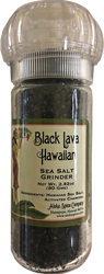 Black Lava Hawaiian Sea Salt -  2.82 oz. Refillable Grinder
