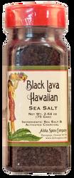 Black Lava Hawaiian Sea Salt - 2.64 oz. Plastic Shaker