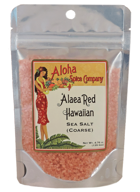 `Alaea Red Hawaiian Sea Salt (Coarse) -  4.76 oz Stand Up Pouch