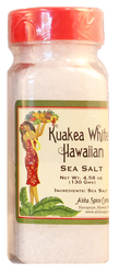 Kuakea White Hawaiian Sea Salt 4.58 oz. Plastic Shaker