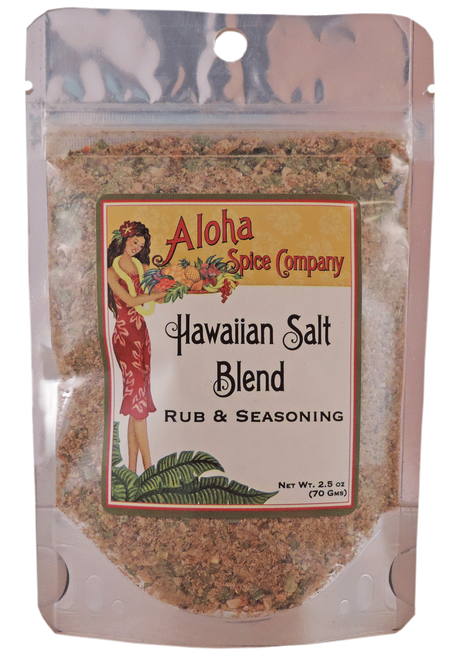 Hawaiian Salt Blend Rub & Seasoning - 2.5 oz. Stand Up Pouch