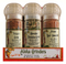 This set includes 3 of our popular grinders, `Alaea Red Coarse Salt, Hawaiian Paradise Grind and Volcano Grind.  A recipe card is included to make a delicious Volcano Grind crusted chicken and baby greens salad with tropical vinaigrette.