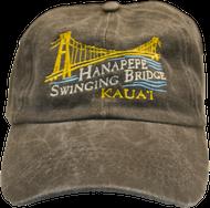 Black Swinging Bridge Washed Cap