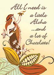 Aloha Chocolate Magnet