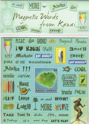 Magnetic Words from Kauai - blue