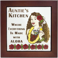 "Auntie's Kitchen 6"" Tile Framed"