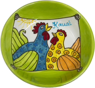 "8"" Pasta Bowl Whimsical Chickens"