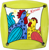 "10"" Square Sushi Whimsical Chickens"