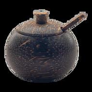 Palm Wood Pot