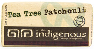 Tea Tree Patchouli Soap-5oz  VIRGIN COCONUT OIL: INDIGENOUS TO POLYNESIA, COCONUT OIL (MANO'I) HAS BEEN USED BY POLYNESIANS FOR CENTURIES TO CONDITION THE HAIR, NOURISH AND HEAL THE SKIN, AS WELL AS ADD A BEAUTIFUL SCENT TO THE BODY. VIRGIN COCONUT OIL ALSO HAS ANTI-BACTERIAL PROPERTIES AND IS HIGH IN ANTIOXIDANTS.   Ingredients:  Saponified Coconut Oil, Olive Oil, Palm Oil, and Grapeseed Oil. Organic Virgin Coconut Oil. Organic Glycerin. Tea Tree Essential Oil. Patchouli Essential Oil. Organic Aloe Gel. Organic Poppy Seeds. Organic Wheat Bran. Vitamin E. Rosemary Seed Extract.        Tea Tree Oil is native to Australia. Tea Tree Patchouli Soap is particularly popular in the summer months when the skin is more oily and prone to bacteria.  This soap also contains the unique oil, Patchouli, which is thick and dark in its pure form and its essence is incredible. In aromatherapy, Patchouli is used to balance emotions and reduce anxiety.