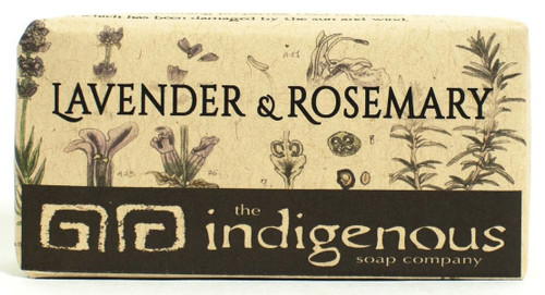 SKU 148  Lavender & Rosemary Soap - 5 oz.  SHEA BUTTER: INDIGENOUS TO AFRICA. IT HAS BEEN USED FOR CENTURIES FOR ITS MOISTURIZING PROPERTIES ON SKIN AND HAIR. IT ALSO HAS ANTI-INFLAMMATORY AND NATURAL SUNSCREEN PROPERTIES!  Ingredients:   Saponified Coconut Oil, Palm Oil, Grapeseed Oil, and  Soybean Oil. Organic Shea Butter. Organic Jojoba Oil. Lavender Essential Oil. Rosemary Essential Oil. Organic Glycerin. Organic Ground Lavender Buds. Organic Ground Rosemary. Kaolin Clay. Organic Ground Peppermint Leaves. Rosemary Seed Extract. Vitamin E.   5oz  Two amazing herbs make up this fabulous Hawaiian made soap. Lavender is known for it's beautiful flowers and scent, as well as it's ability to heal burns, insect bites, and scars. Rosemary helps to aid in muscle pains, arthritis, and to improve circulation. Equal amounts of these two herbs in plant and oil form and Jojoba Oil are the main ingredients of this soap. Jojoba Oil was used by some Native Americans for sores, wound healing, and sunburn. This soap is exactly what its name says, Lavender & Rosemary. Relish your soapy moments!