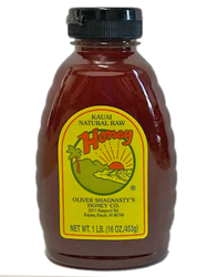 SKU #533  Ingredients: 100% Pure Hawaiian Honey  100% Pure honey harvested from the nectar of tropical blossoms that grow on the beautiful Island of Kaua'i, Hawaii.  1 pound Jar