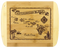"""SKU#6094  Vintage Hawaiian Map Bamboo Cutting Board  Celebrate The Hawaiian Islands with this bamboo serving and cutting board featuring laser-engraved vintage artwork of the Hawaiian Islands - features light bamboo accents on the left and right sides of the cutting board.   Board measures 8-1/2"""""""" x 11"""" x 5/8"""""""