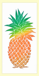 Hand screen printed by Hawaii artist Janet Holaday on Oahu, Hawaii. This beautifully colored pineapple towel is printed on 100% cotton using environmentally friendly inks. Makes a great addition to any kitchen!
