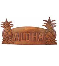 Monkeypod Wood Pineapple Sign