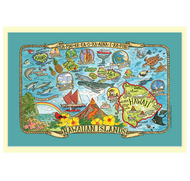 """Hawaiian Map towel makes a great addition to any home. This towel is printed on 100% cotton and measures 18.5"""" x 28."""""""