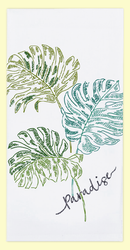 Tropical Paradise Embroidered Towel