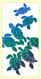 "SKU#HHFamily Hand screen printed by Hawaii artist Janet Holaday on Oahu, Hawaii. This beautifully colored Hawaiian Honu Family (sea turtles) towel is printed on 100% woven cotton using environmentally friendly inks. Measures 18"" x 30."" Makes a great addition to any kitchen!"