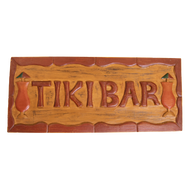 Tike Bar - Tropical Carved Wooden Sign