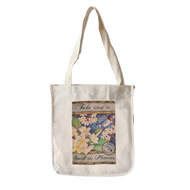 Take Time to Smell the Plumeria - Canvas Tote Front