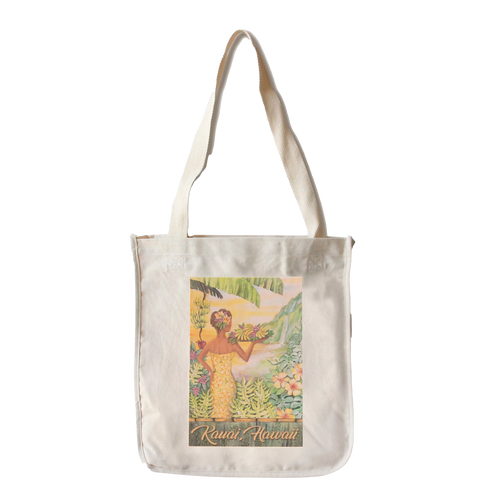 Banana Patch Girl Canvas Tote - Front